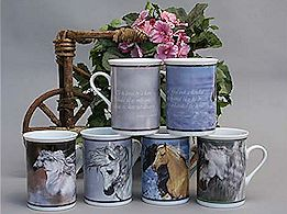 Set of Porcelain Mugs - click to view larger